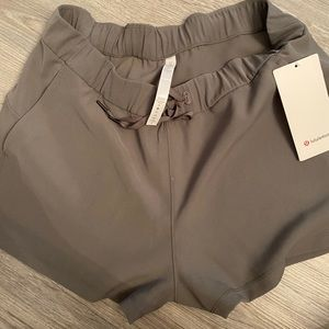 grey lululemon shorts